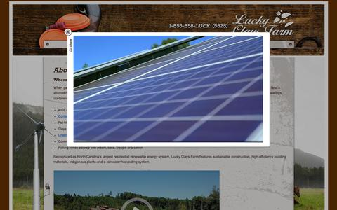Screenshot of About Page luckyclaysfarm.com - Lucky Clays Farm | Corporate Event Facilities NC | Clays Shooting Range - captured July 24, 2018