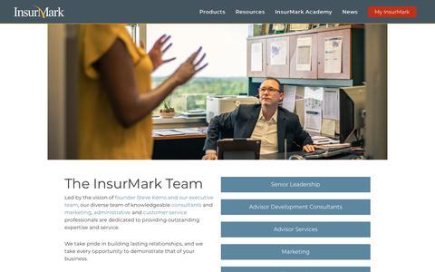 Screenshot of Team Page insurmark.net - InsurMark Team | InsurMark - captured Jan. 21, 2019