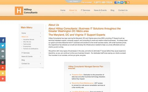 Screenshot of About Page hilltopconsultants.com - About Us - WashingtonDC   Hilltop Consultants   WashingtonDC   Hilltop Consultants - captured Oct. 1, 2014