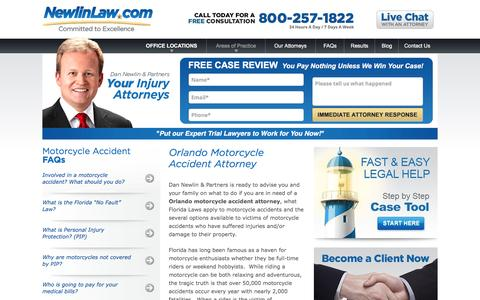 Orlando Motorcycle Accident Attorney - Dan Newlin - Recovered Millions