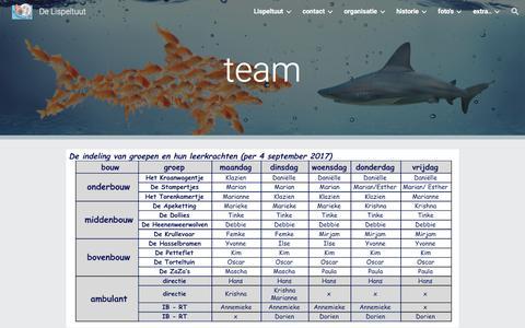 Screenshot of Team Page google.com - De Lispeltuut - team - captured March 3, 2018