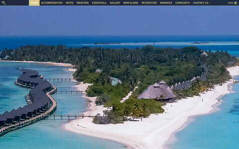 Screenshot of Home Page kuredu.com - Maldives Resorts - Kuredu is a top rated and popular resort - captured Oct. 24, 2015