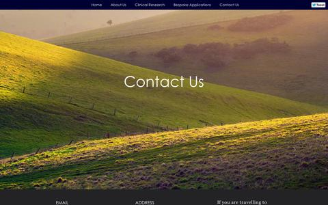 Screenshot of Contact Page oneresearch.co.uk - One Research - captured Oct. 26, 2014