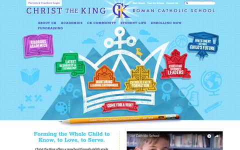 Screenshot of Home Page ckrcs.org - Christ the King Roman Catholic School - captured Sept. 28, 2018