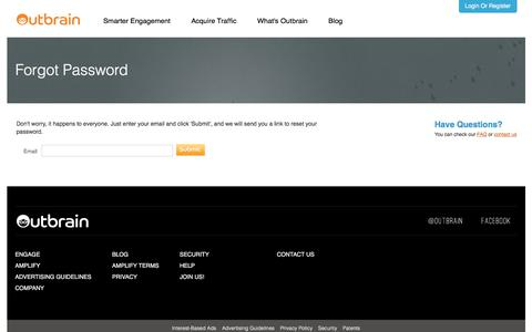 Outbrain - Forgot Password