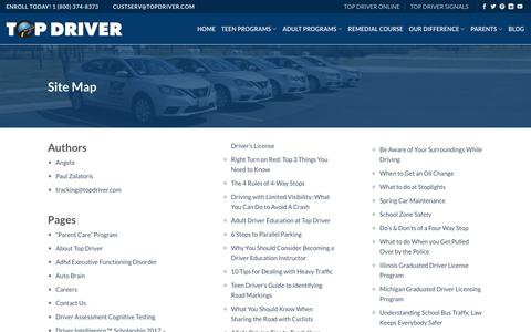 Site Map - Top Driver Driving School