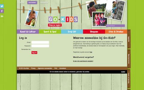 Screenshot of Login Page go-kids.nl - Login - Go-Kids - captured Sept. 30, 2014