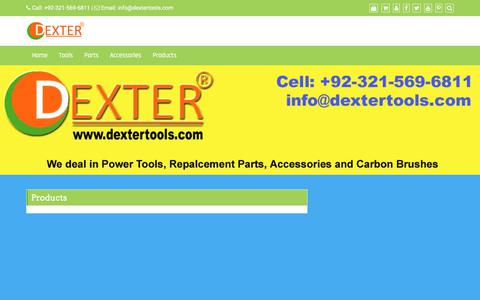 Screenshot of Products Page dextertools.com - Products – Dexter Tools - captured Aug. 6, 2018