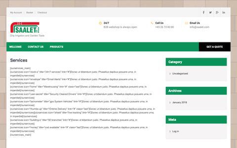 Screenshot of Services Page saalet.com - Services - Saalet ApS - captured Oct. 1, 2018