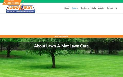 Screenshot of About Page lawnamat.net - Lawn-A-Mat Lawn Care - Fair Lawn, Paramus and Wayne NJ, Warwick NY - captured May 15, 2017