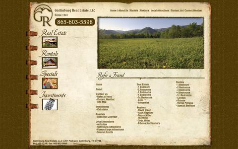 Screenshot of Site Map Page gatlinburgchalets.com - Gatlinburg Real Estate - Chalets, Cabins, Condos - Gatlinburg, TN - captured June 18, 2016