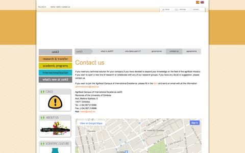 Screenshot of Contact Page ceia3.es - Contact us - captured Oct. 1, 2014