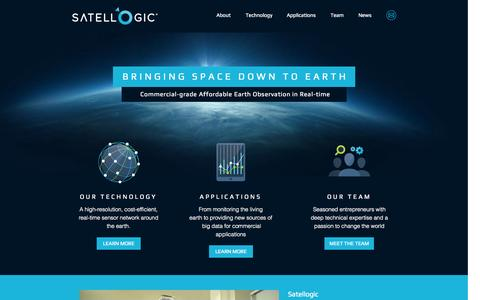 Screenshot of Home Page satellogic.com - Satellogic - captured Sept. 17, 2014