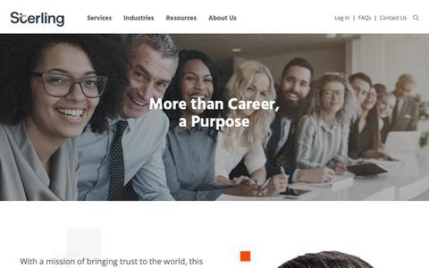 Screenshot of Jobs Page sterlingcheck.com - Careers - Sterling - captured Feb. 21, 2019