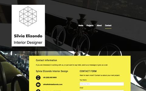 Screenshot of Contact Page houzz.com - Contact - captured Nov. 16, 2018