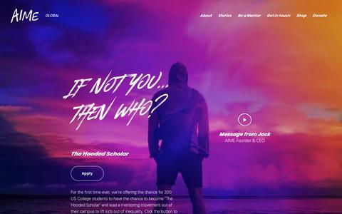 Screenshot of Home Page aimementoring.com - AIME Mentoring - captured Oct. 2, 2018
