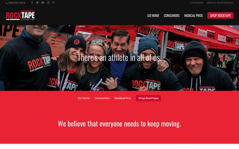 Screenshot of About Page rocktape.com - About Us | RockTape - captured May 23, 2018
