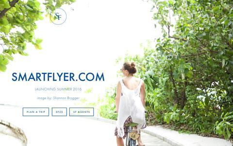 Screenshot of Home Page smartflyer.com - SmartFlyer - captured March 29, 2016