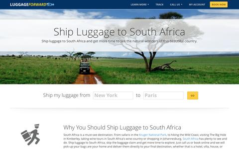 Ship Luggage to South Africa | Ship Bags to South Africa