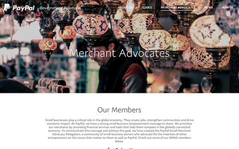Merchant Advocates | PayPal Government Relations