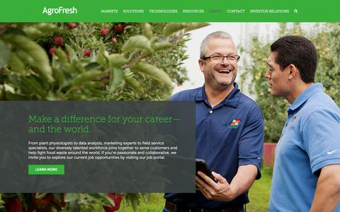Screenshot of Jobs Page agrofresh.com - Careers at AgroFresh - captured July 29, 2018