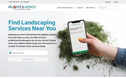Screenshot of Home Page plowzandmowz.com - Plowz & Mowz - captured Aug. 18, 2019