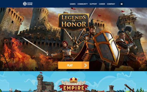 Screenshot of Home Page goodgamestudios.com - Goodgame Studios - Free2Play Online Games - captured Jan. 7, 2016
