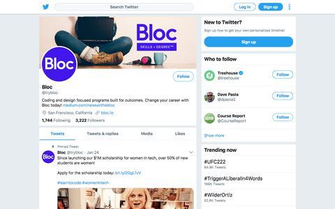 Tweets by Bloc (@trybloc) – Twitter