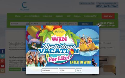 Screenshot of Jobs Page caribbeanresort.com - Caribbean Resort - captured Sept. 22, 2018