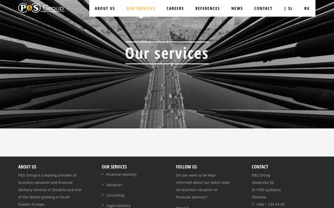 Screenshot of Services Page p-s.com - Our services - P&S Group - captured March 3, 2017