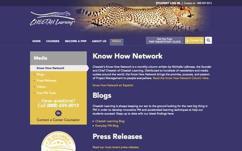 Screenshot of Press Page cheetahlearning.com - Cheetah Learning Media Page | Cheetah - captured Sept. 29, 2014