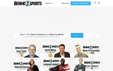 Screenshot of Home Page behindsports.com - Behind Sports - Exclusive Interviews with Sports Professionals - captured Dec. 31, 2015