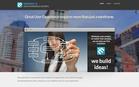 Screenshot of Home Page modernui.com - MODERN Ui - captured Sept. 30, 2014