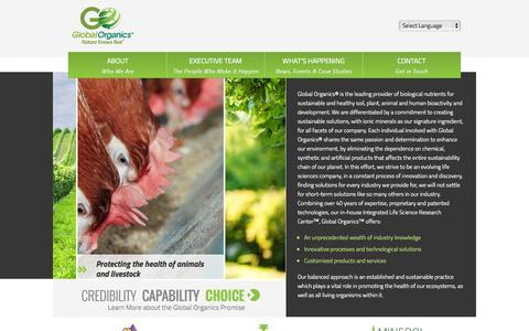 Screenshot of Home Page globalorganicsgroup.com - Home | Global Organics - captured Oct. 6, 2014