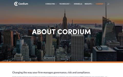Screenshot of Team Page cordium.com - About Cordium - A GRC Consulting & Software Company - captured May 18, 2018