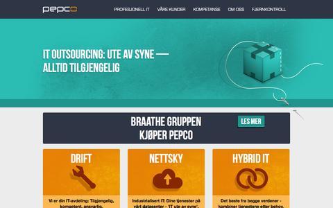Screenshot of Home Page pepco.no - Pepco - captured Oct. 2, 2014