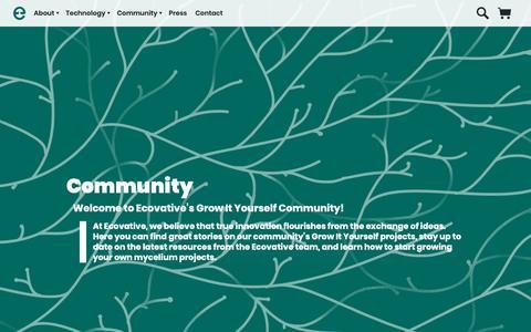 Screenshot of Blog ecovativedesign.com - Grow It Yourself Community Blog |      Mycelium Biofabrication Platform | Ecovative | Green Island, New York - captured Dec. 7, 2018
