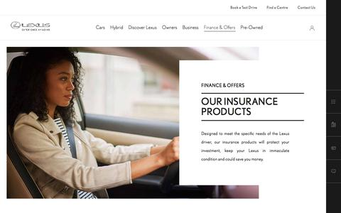 Lexus Insurance Products | Lexus UK