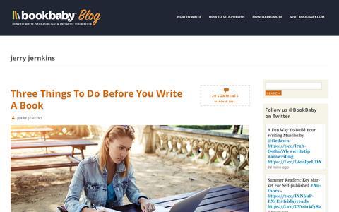 Screenshot of Blog bookbaby.com - jerry jernkins | BookBaby Blog - captured Feb. 27, 2017