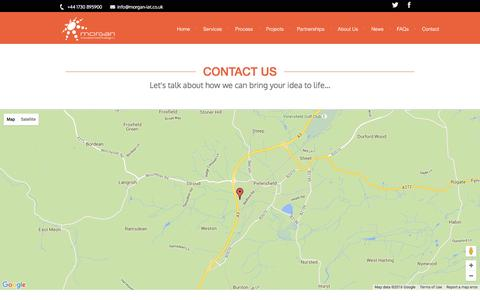 Screenshot of Contact Page morgan-iat.co.uk - Contact us - Morgan Innovation and Technology - captured Feb. 14, 2016