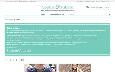 Screenshot of Blog sophiejuliete.com.br - Guia de Estilo - captured Nov. 23, 2015