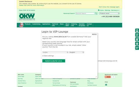 Screenshot of Login Page okw.co.uk - Login - captured Nov. 29, 2016