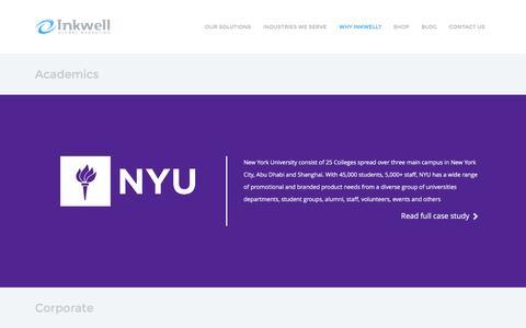 Screenshot of Case Studies Page inkwellusa.com - Case Studies   Inkwell Global Marketing : Inkwell - captured Nov. 26, 2016