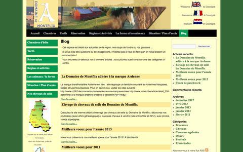 Screenshot of Blog domainedemontflix.com - Blog | Domaine de Montflix  | Domaine de Montflix - captured Feb. 23, 2018