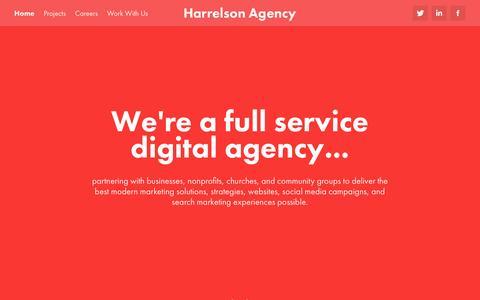 Screenshot of Home Page harrelsonagency.com - Harrelson Agency - captured May 15, 2017