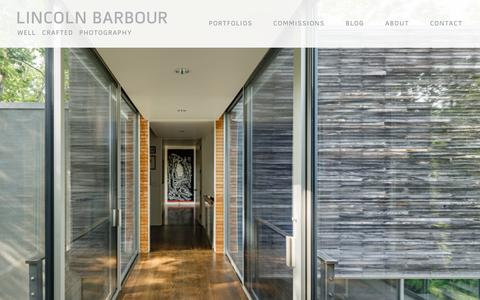 Screenshot of Home Page lincolnbarbour.com - LINCOLN BARBOUR | Professional Photographer of Architecture, Interior Design, Home Goods, Food & Lifestyle | Based in Virginia, Washington DC - captured Sept. 25, 2018