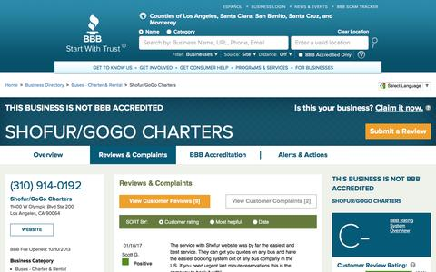 BBB Business Profile | Shofur/GoGo Charters | Reviews and Complaints