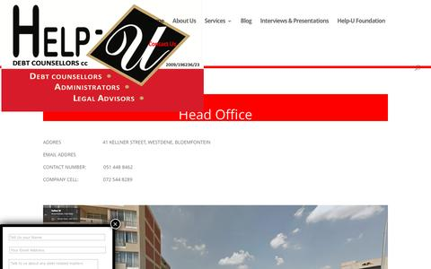 Screenshot of Contact Page helpudebtcounsellors.co.za - Contact Us | Help-U Debt Counsellors - captured July 13, 2016