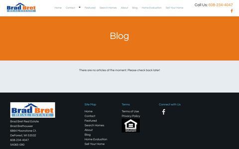 Screenshot of Blog bradbret.com - Real Estate Blog by Blog | Brad Bret Real Estate - captured Nov. 23, 2016