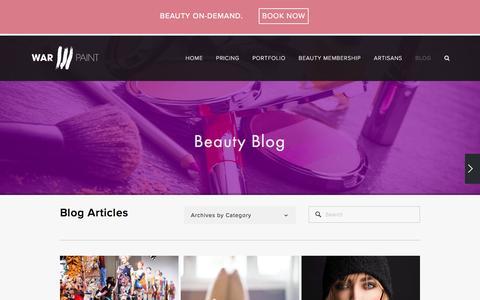 Screenshot of Blog warpaintinternational.com - BLOG — Warpaint International Beauty Agency - captured Nov. 19, 2016